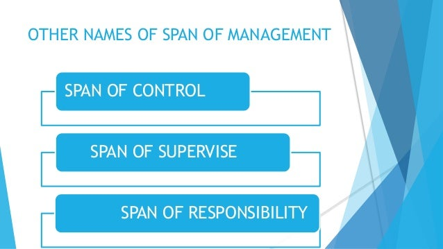 span of management How many direct reports gary l neilson  they're increasingly taking on elements of general management  the span of control is typically highest at the.
