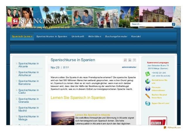 Search... administratorNov 29 | 22:51 Spanischkurse in Spanien Warum sollten Sie Spanisch als neue Fremdsprache erlernen? ...