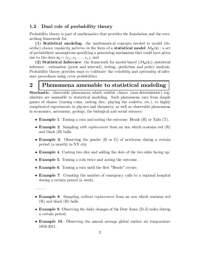 Spanos: Lecture 1 Notes: Introduction to Probability and