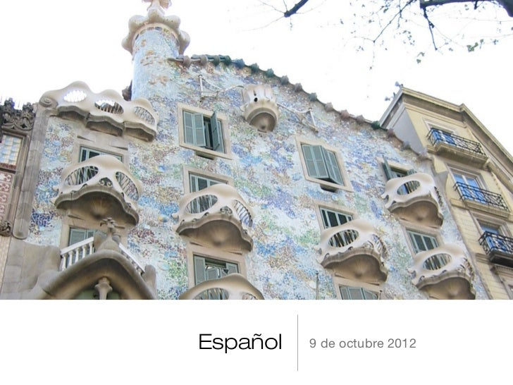 Español   9 de octubre 2012