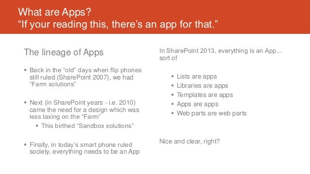 """What are Apps? """"If your reading this, there's an app for that."""" The lineage of Apps  Back in the """"old"""" days when flip pho..."""