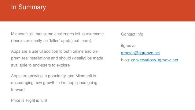 """In Summary Microsoft still has some challenges left to overcome (there's presently no """"killer"""" app(s) out there). Apps are..."""