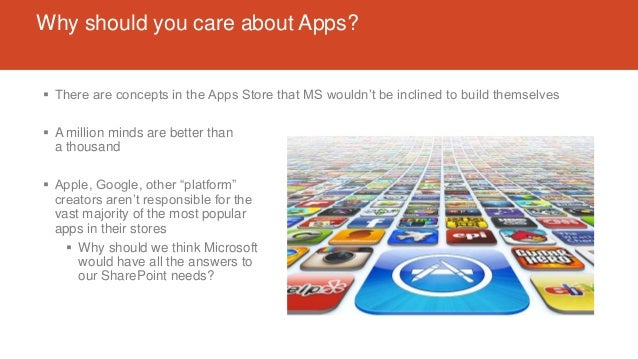 Why should you care about Apps?  There are concepts in the Apps Store that MS wouldn't be inclined to build themselves  ...
