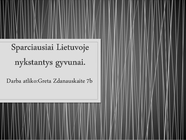 Darba atliko:Greta Zdanauskaite 7b