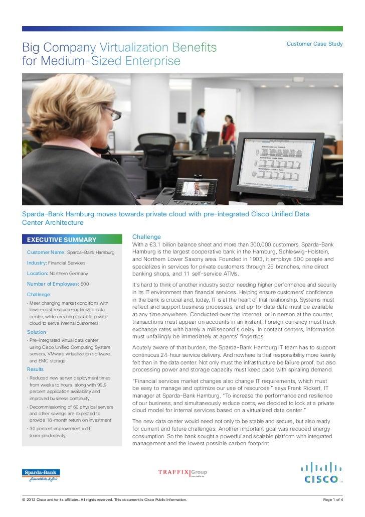 Big Company Virtualization Benefits                                                                                  Custo...