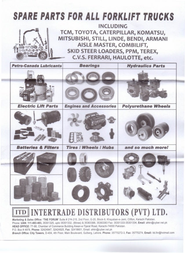 Spare parts for all forklift