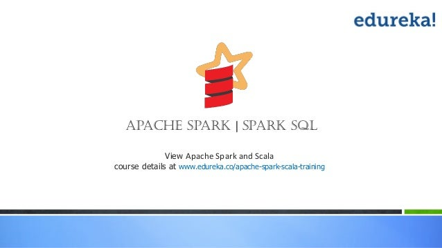 View Apache Spark and Scala course details at www.edureka.co/apache-spark-scala-training Apache Spark | Spark SQL