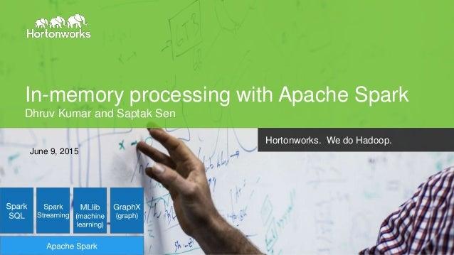 Page1 © Hortonworks Inc. 2014 In-memory processing with Apache Spark Dhruv Kumar and Saptak Sen Hortonworks. We do Hadoop....