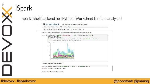 ISpark  Spark-Shell backend for IPython (Worksheet for data analysts)  #devoxx #sparkvoxx @noootsab @maasg