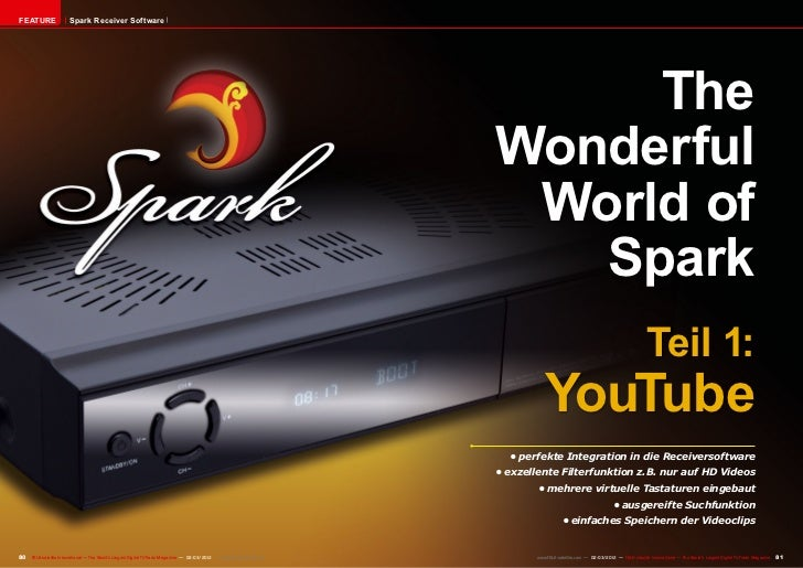 FEATURE                 Spark Receiver Software                                                                           ...