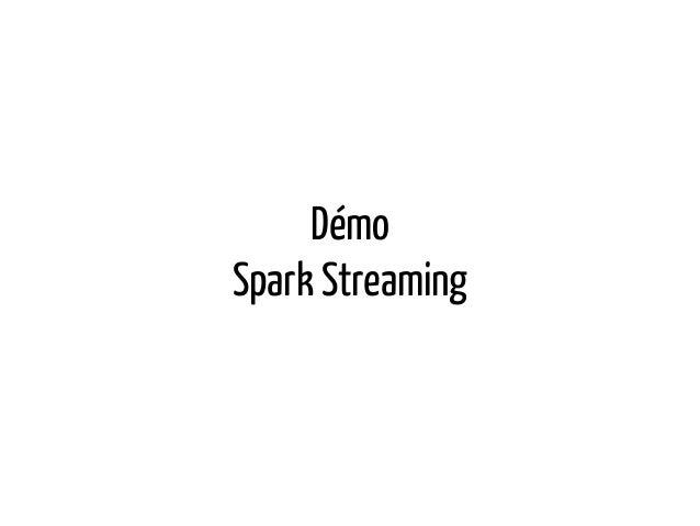 Démo Spark Streaming
