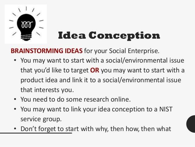 Spark social enterprise idea generation