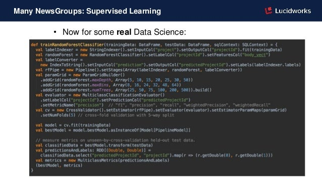• Now for some real Data Science: Many NewsGroups: Supervised Learning