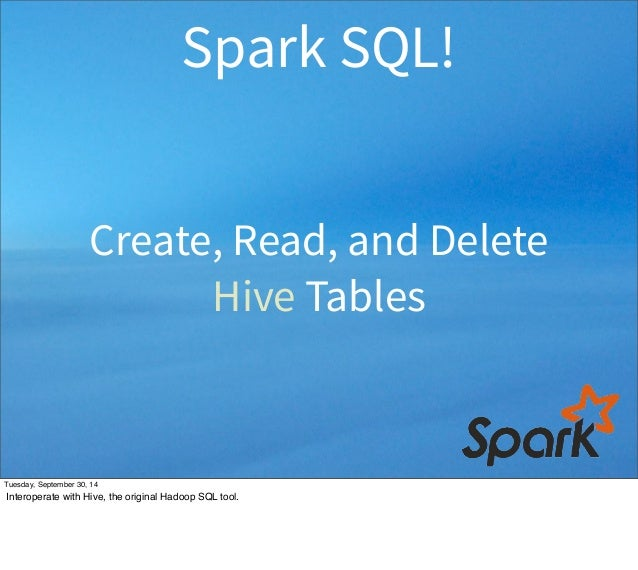 how to delete table spark sql