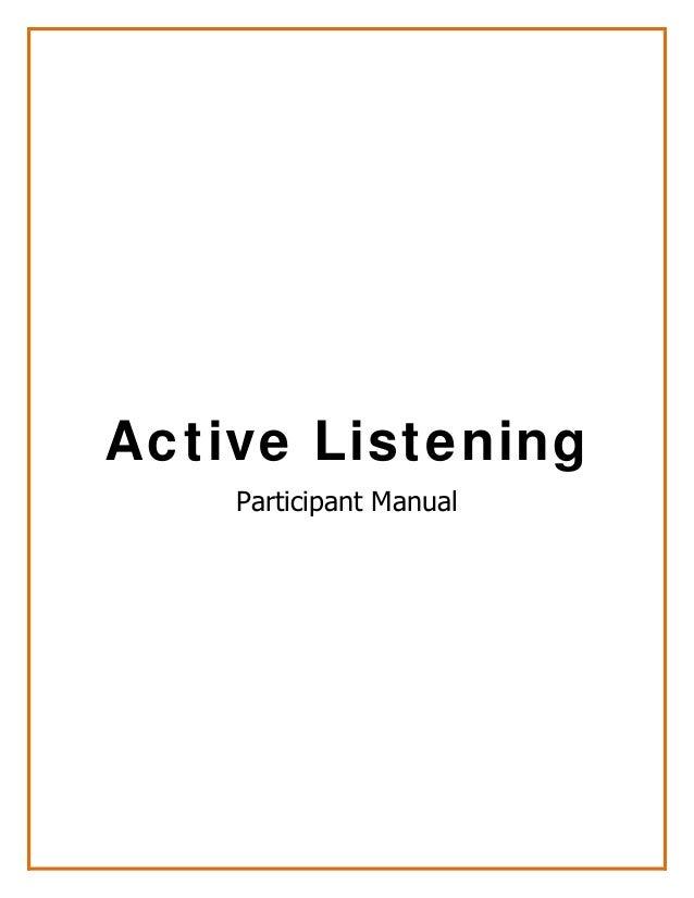 Active Listening Participant Manual