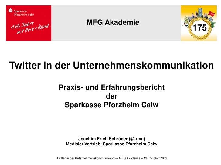 MFG Akademie                                                                                       175    Twitter in der U...