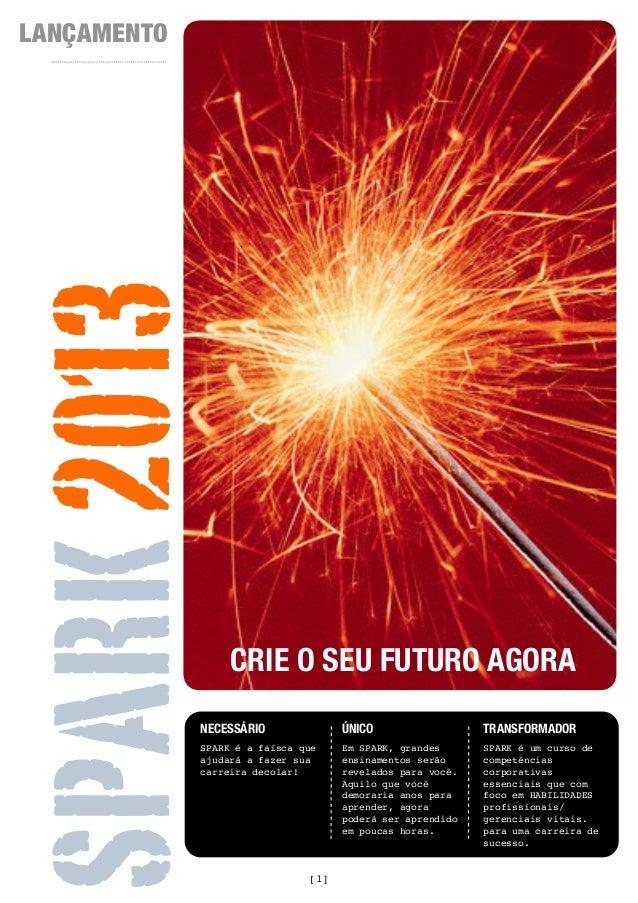LANÇAMENTOSPARK 2013                  CRIE O SEU FUTURO AGORA             NECESSÁRIO              ÚNICO                  T...