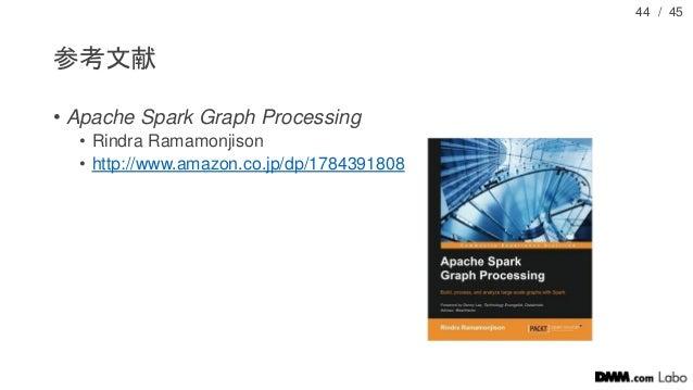 / 45 参考文献 • Apache Spark Graph Processing • Rindra Ramamonjison • http://www.amazon.co.jp/dp/1784391808 44