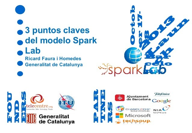 na  PAR TNE RS  FOU ND ERS  Ricard Faura i Homedes Generalitat de Catalunya  Octob er 1718  3 puntos claves del modelo Spa...