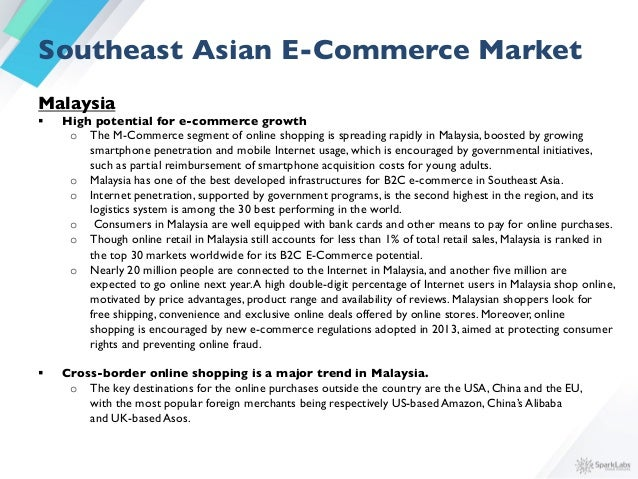 § Payment and delivery  o Various payment methods are used in Malaysian B2C commerce.A large share of the purchases  ...