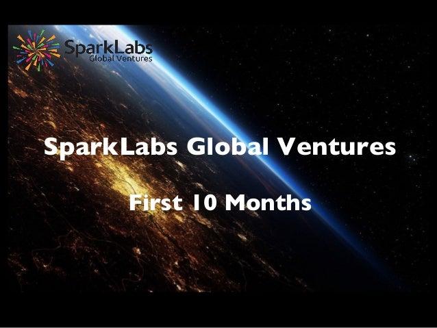 SparkLabs Global Ventures    First 10 Months