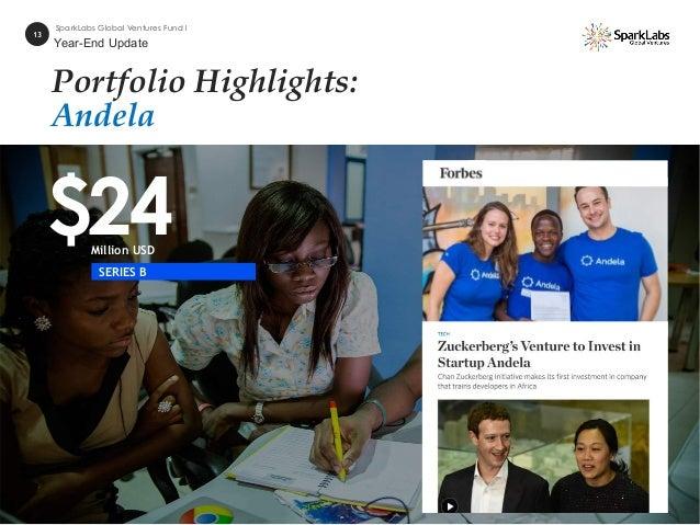 Portfolio Highlights: Andela $24Million USD 13 SparkLabs Global Ventures Fund I SERIES B Year-End Update