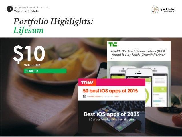 Portfolio Highlights: Lifesum $10Million USD 15 SparkLabs Global Ventures Fund II SERIES B Health Startup Lifesum raises $...