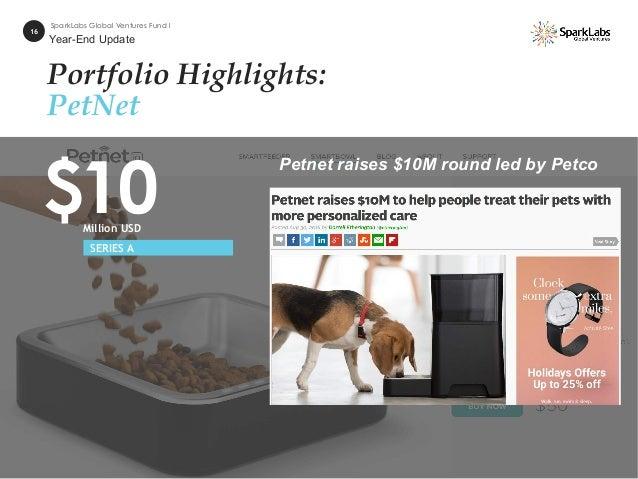Portfolio Highlights: PetNet 16 SparkLabs Global Ventures Fund I $10Million USD SERIES A Petnet raises $10M round led by P...
