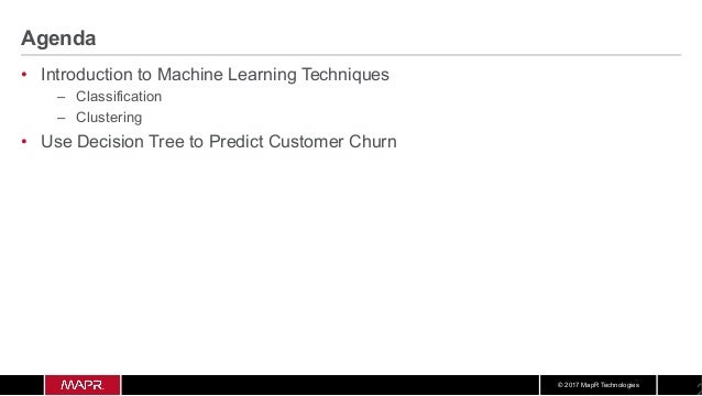 Spark machine learning predicting customer churn Slide 2