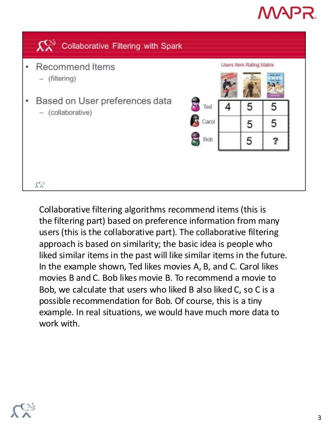 Machine Learning Recommendations with Spark Slide 3