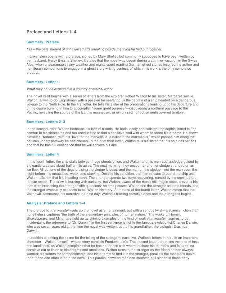 frankenstein short summary