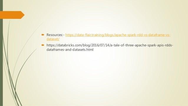 Spark rdd vs data frame vs dataset