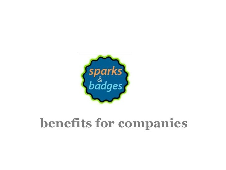 benefits for companies<br />