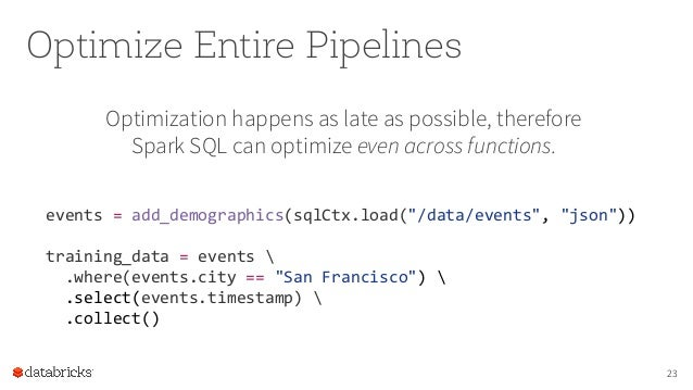 Spark DataFrames: Simple and Fast Analytics on Structured