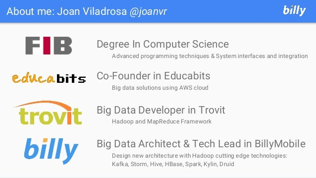 About me: Joan Viladrosa @joanvr Degree In Computer Science Advanced programming techniques & System interfaces and integr...
