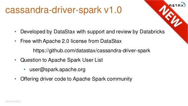 Announcing Spark Driver for Cassandra