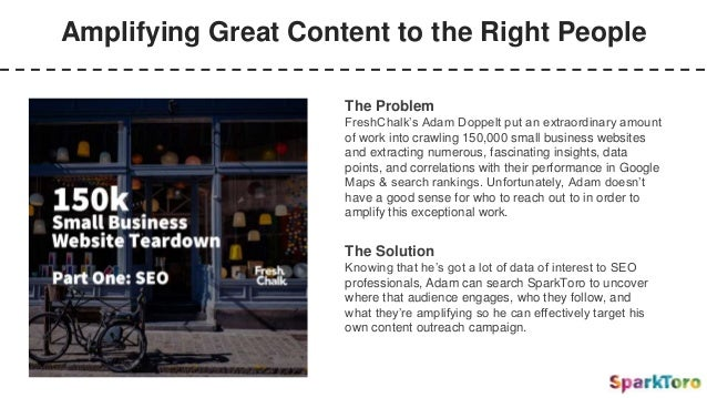 Amplifying Great Content to the Right People The Problem FreshChalk's Adam Doppelt put an extraordinary amount of work int...