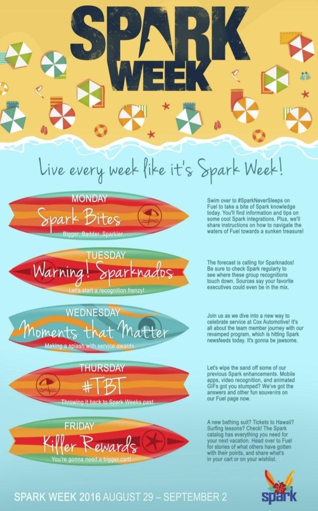 Cox Automotive's Spark Week Calendar