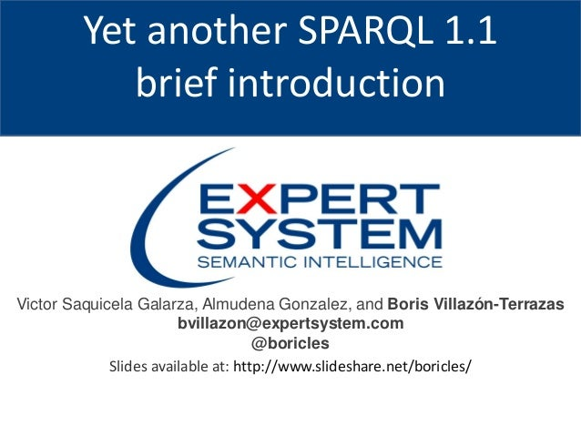 Yet Another Sparql 1 1 Brief Introduction