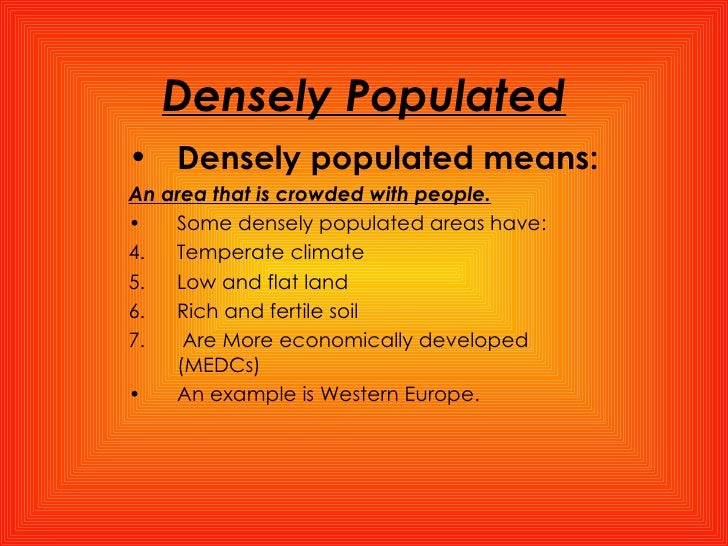why is western europe densely populated