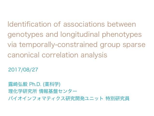 identification of associations between genotypes and longitudinal phe