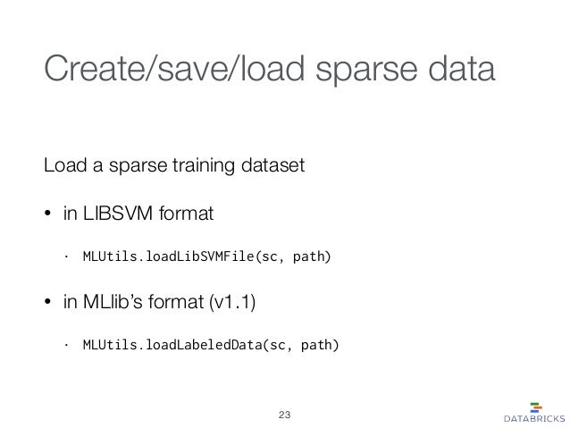 Sparse Data Support in MLlib