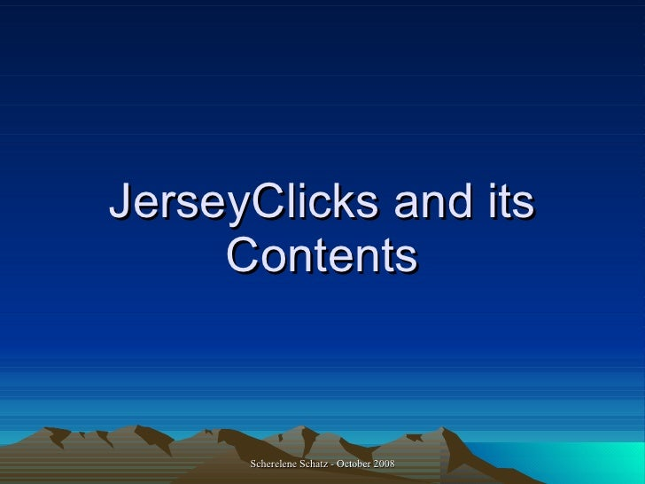 JerseyClicks and its Contents