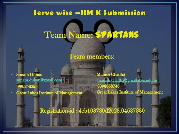 Team Name: Spartans                             Team members:• Sonam Duhan                           • Manish Chadha  sona...