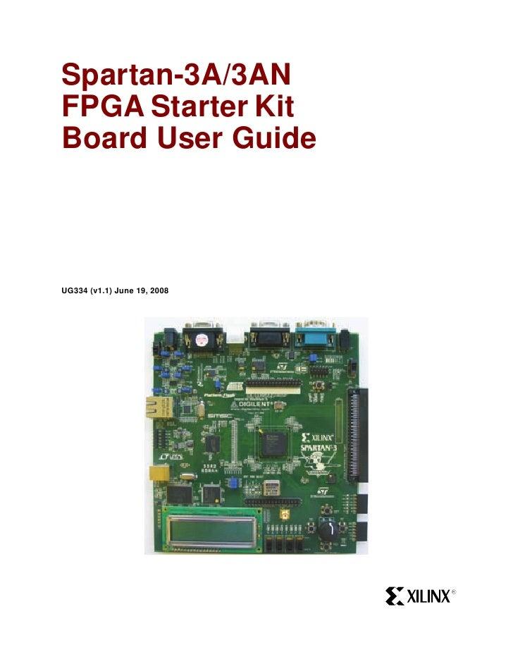Spartan-3A/3ANFPGA Starter KitBoard User GuideUG334 (v1.1) June 19, 2008                             R