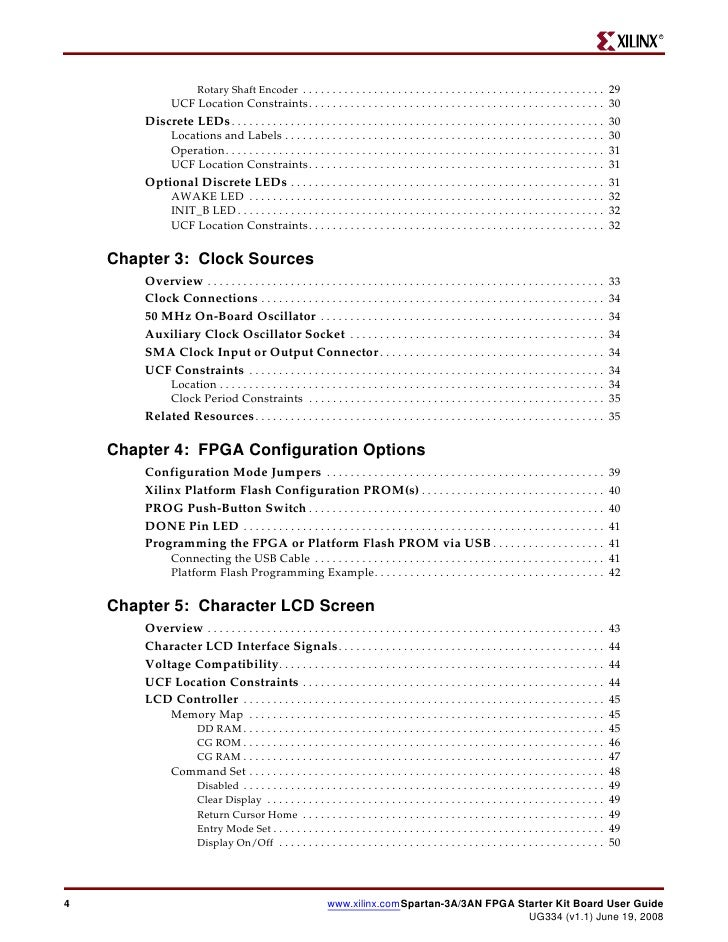 spartan 3a 3an fpga starter kit board user guide