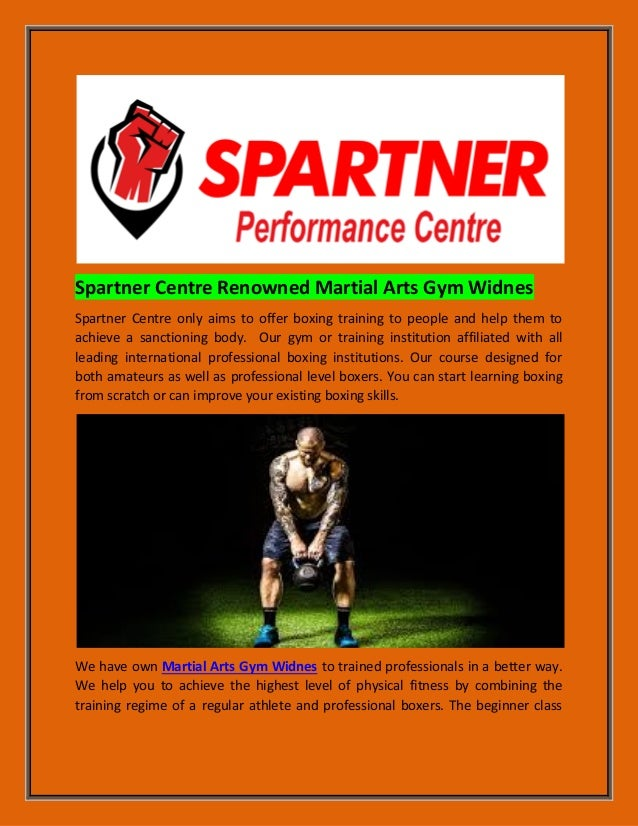 Spartner centre renowned martial arts gym widnes for fitness