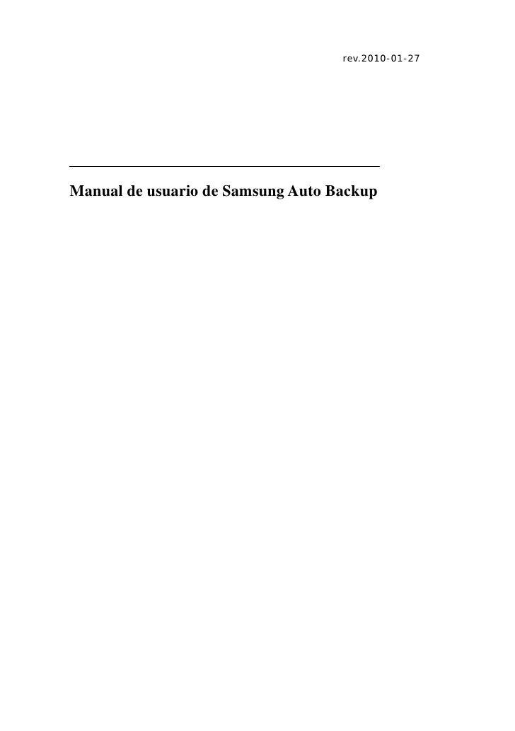 rev.2010-01-27     Manual de usuario de Samsung Auto Backup