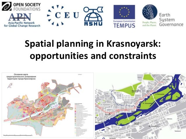 Spatial planning in Krasnoyarsk: opportunities and constraints
