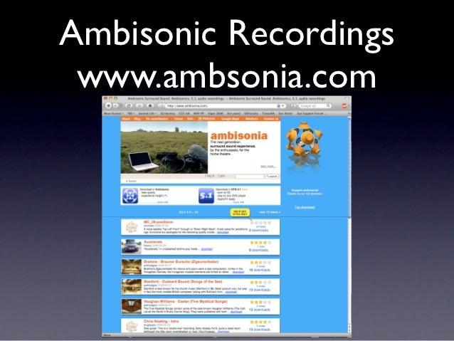 Ambisonic Recordings www.ambsonia.com